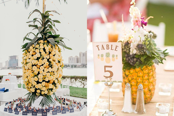 декорација од ананас за свадба