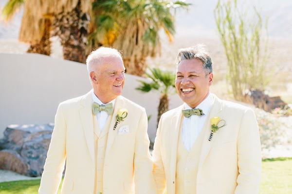 жолти костими за свадба