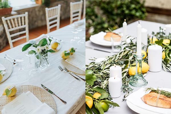 декорација со лимони свадба