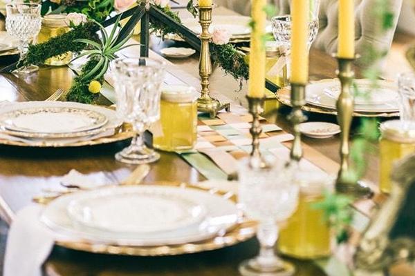 свеќи декорација свадба