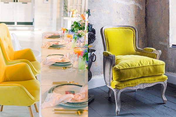 жолто столче за свадба